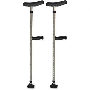 Universal Single Tube Crutch, 399.04 lb Load Capacity